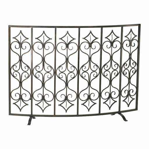 Cyan Design Casablanca Fire Screen, Canyon Bronze