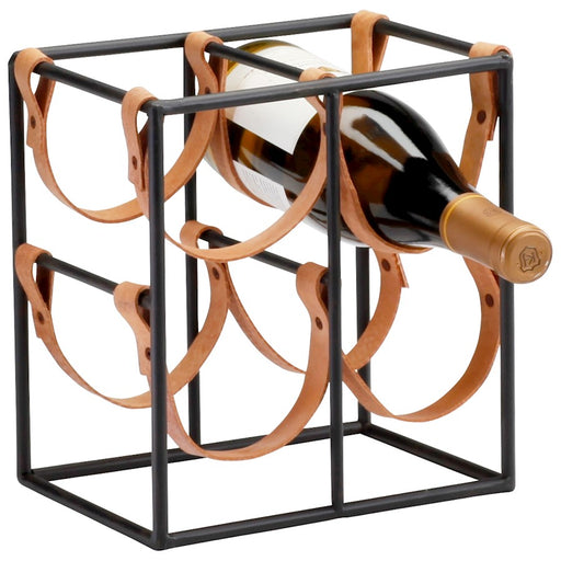 Cyan Design Brighton Wine Holder, Raw Steel