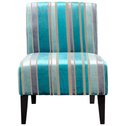 Cyan Design Ms. Stripy Chair, Turquoise Blue
