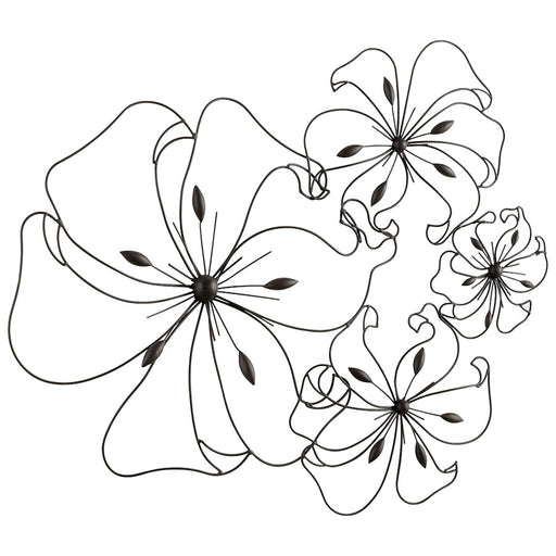 Cyan Design Fancy Flower Wall Art, Graphite