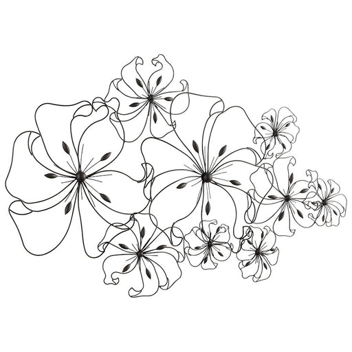 Cyan Design Six Flower Fancy Wall Art, Graphite