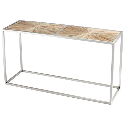 Cyan Design Aspen Console Table, Black Forest Grove and Chrome