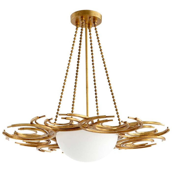 Cyan Design Vivian 3 Light Pendant, Gold Leaf