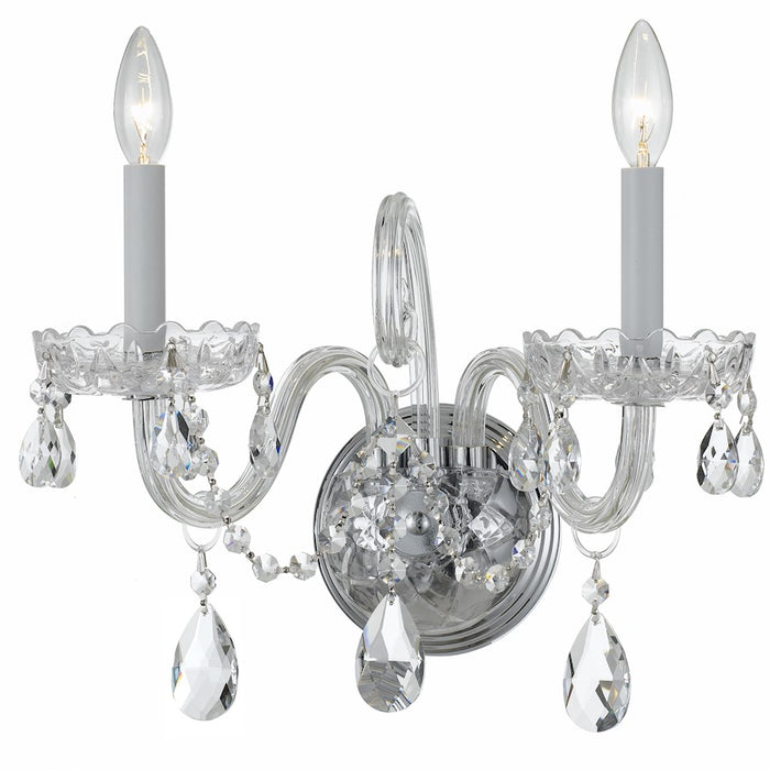 Crystorama Traditional Clear Crystal Sconce