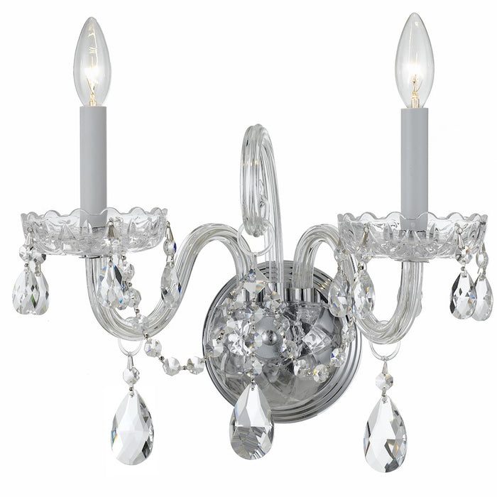 Crystorama Traditional Spectra Crystal Wall Sconce