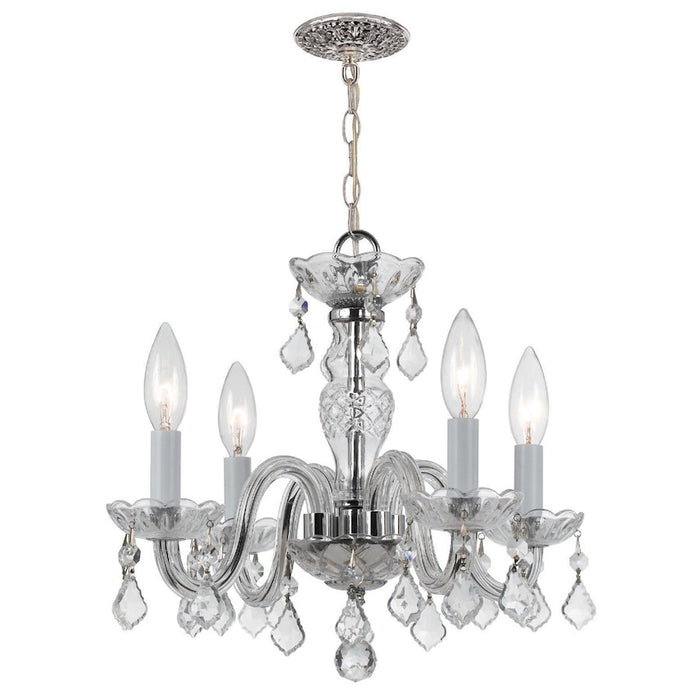 Crystorama 4 Light Clear Italian Crystal Chrome Mini Chandelier I