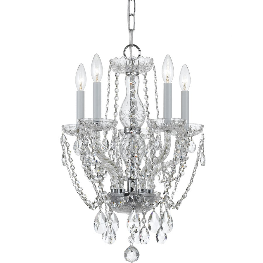 Crystorama Traditional 5 Light Swarovski Crystal Mini Chandelier