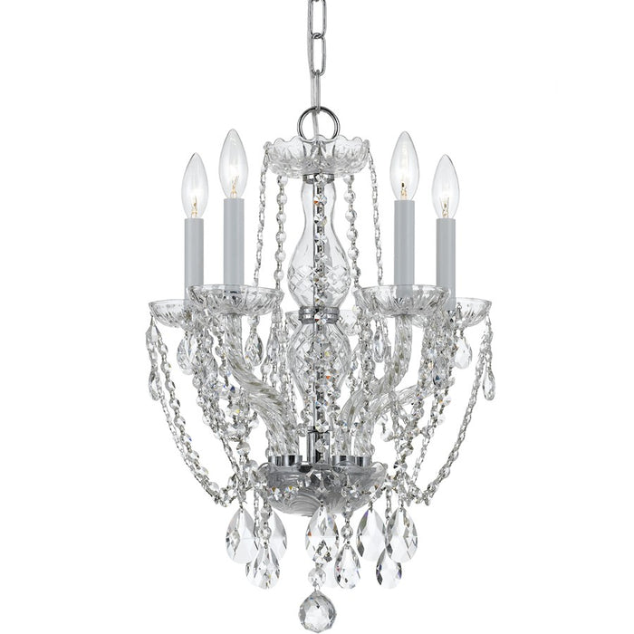 Crystorama Traditional 5 Light Spectra Crystal Mini Chandelier