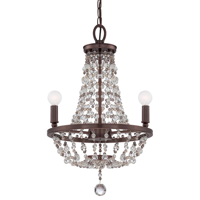 Crystorama Channing 3 Light Bronze Mini Chandelier