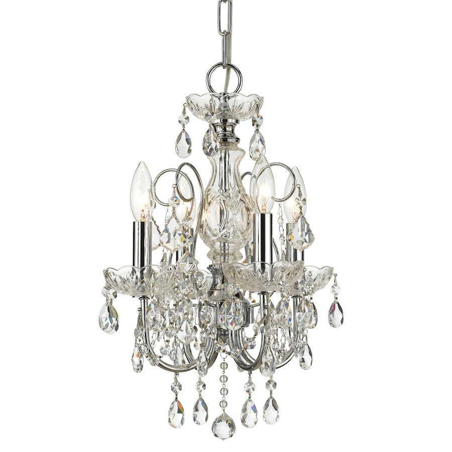 Crystorama Imperial 4 Light Clear Crystal Chrome Mini Chandelier I
