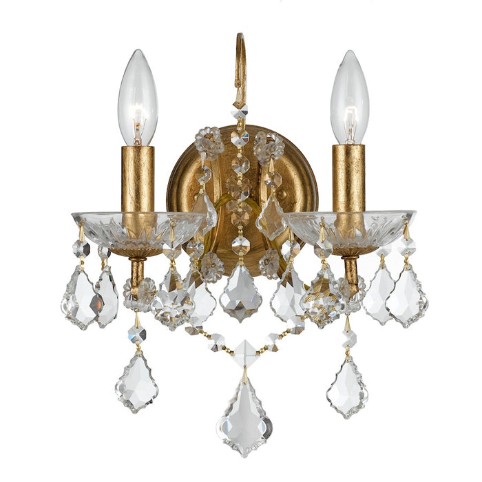 Crystorama Filmore 2 Light Gold Sconce
