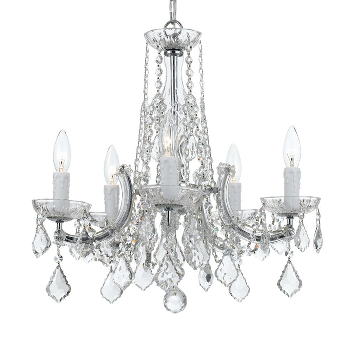 Crystorama 5 Light Chandelier, Chrome - 4576-CH-CL-MWP