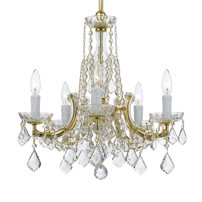 Crystorama 5 Light Mini Chandelier, Gold - 4576-GD-CL-MWP