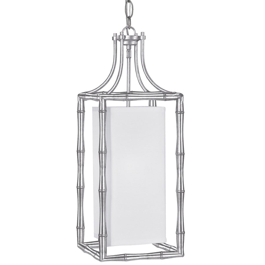 Crystorama Masefield 1 Light Pendant, Antique Silver