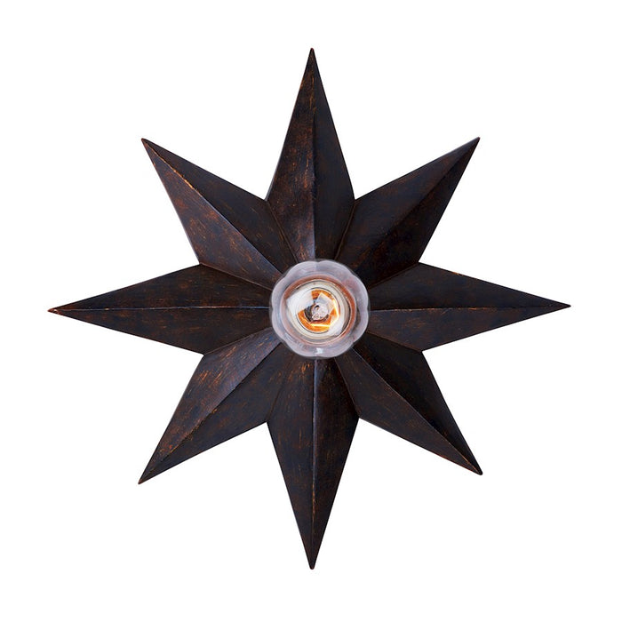 Crystorama Astro 1 Light Bronze Sconce