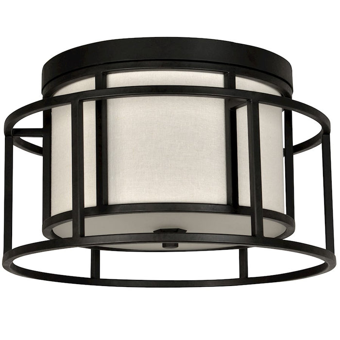 Crystorama Hulton 2 Light Hulton Ceiling Mount, Matte Black