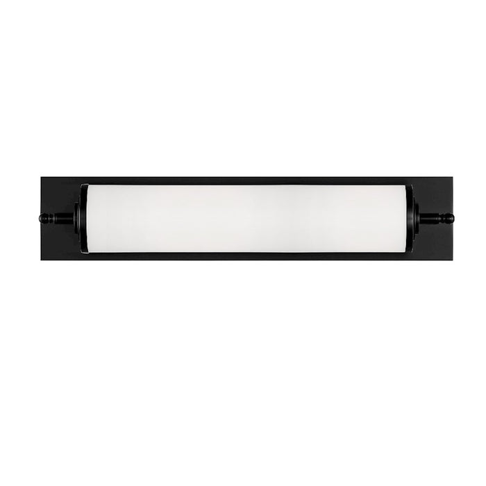 "Crystorama Foster 24"" 1 Light Wall Mount, Matte Black - FOS-A8051-MK"
