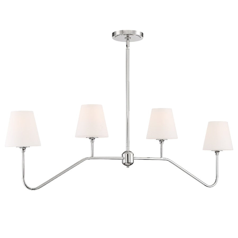 Crystorama Keenan 4 Light Chandelier, Polished Nickel - KEE-A3004-PN