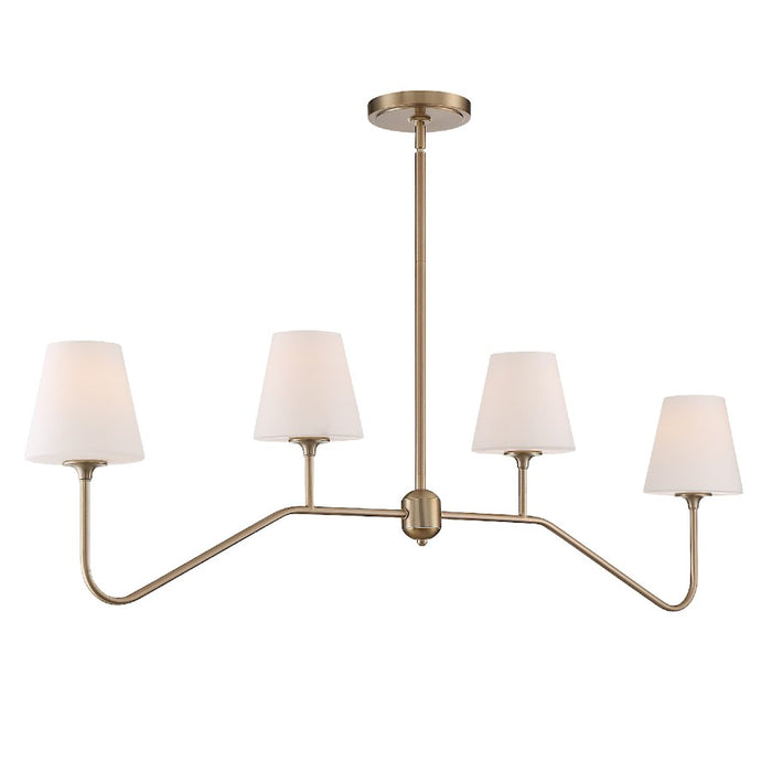 Crystorama Keenan 4 Light Chandelier, Vibrant Gold - KEE-A3004-VG