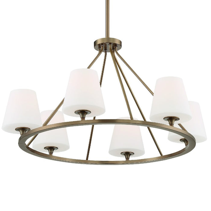 Crystorama Keenan 6 Light Chandelier, Vibrant Gold - KEE-A3006-VG