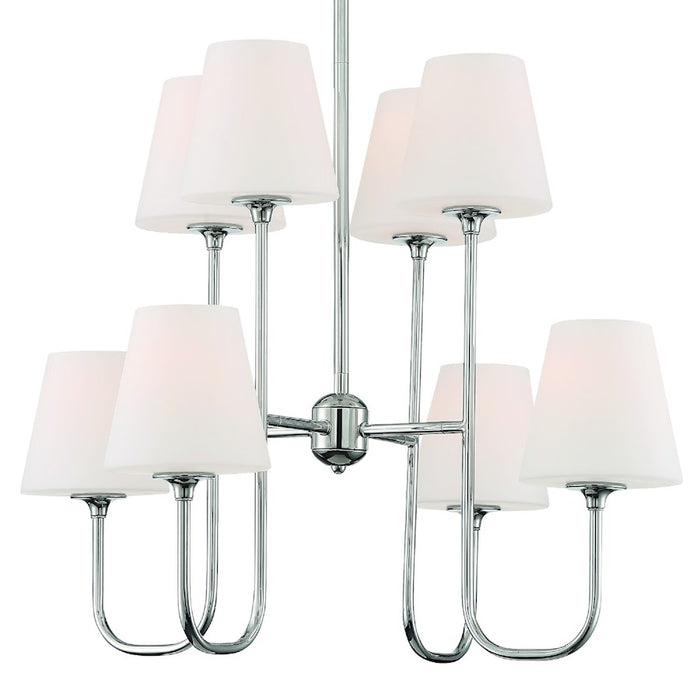 Crystorama Keenan 8 Light Chandelier, Polished Nickel - KEE-A3008-PN