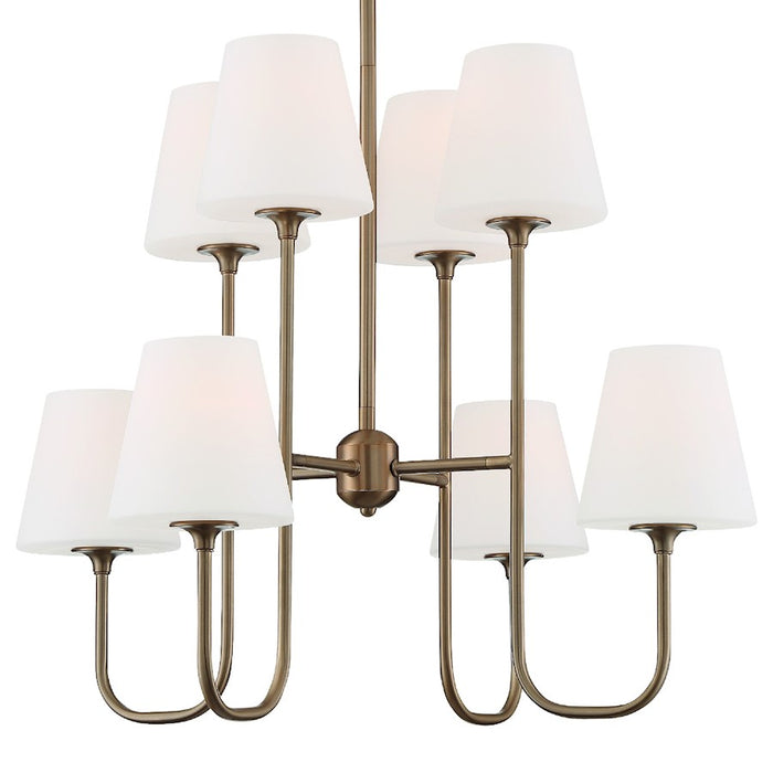 Crystorama Keenan 8 Light Chandelier, Vibrant Gold - KEE-A3008-VG