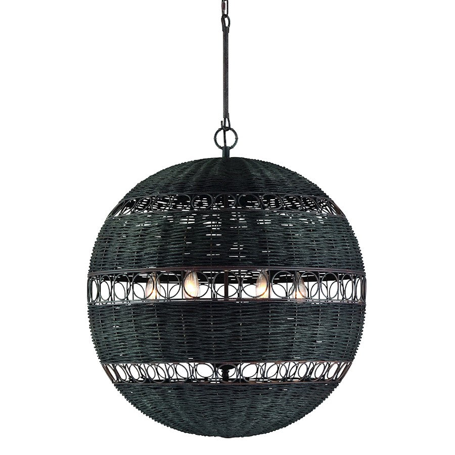 Crystorama Remy 6 Light Chandelier, Forged Bronze - REM-A5036-FB