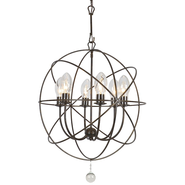 Crystorama Solaris Outdoor Chandelier in English Bronze