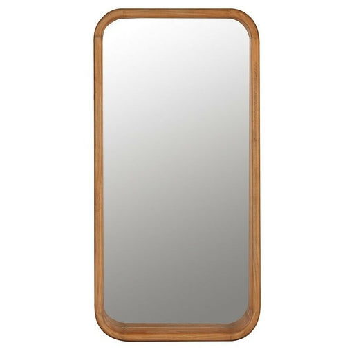 Cooper Classics Celina Beveled Shelf Mirror, Blonde Wooden - 41525
