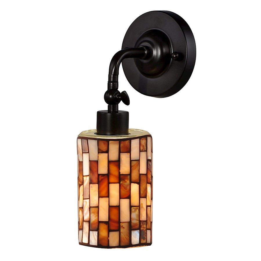 Dale Tiffany Calico LED Mosaic Wall Sconce, Antique Bronze