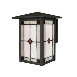 Dale Tiffany Mayan Outdoor Tiffany Wall Sconce, Mica Black