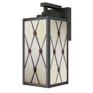 Dale Tiffany Ory Outdoor Tiffany Wall Sconce, Oil Rubbed Bronze