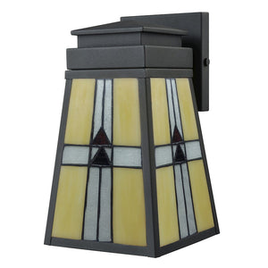 Dale Tiffany Barkley Outdoor Tiffany Wall Sconce, Mica Black