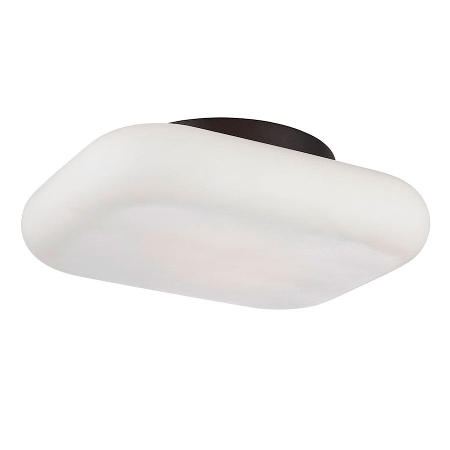 Eurofase Alma 2-Light LED Flushmount, Bronze/Opal White - 26631-011
