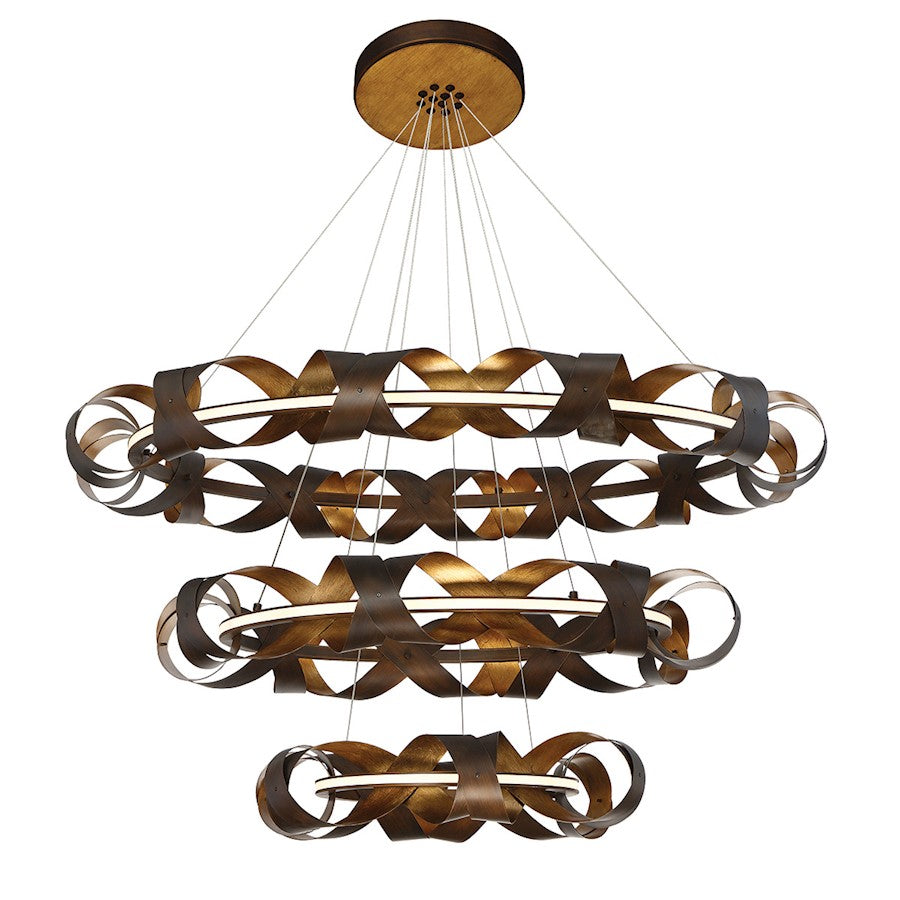 Eurofase Banderia Three-Tier LED Chandelier, Bronze/Bronze/Gold - 30082-014