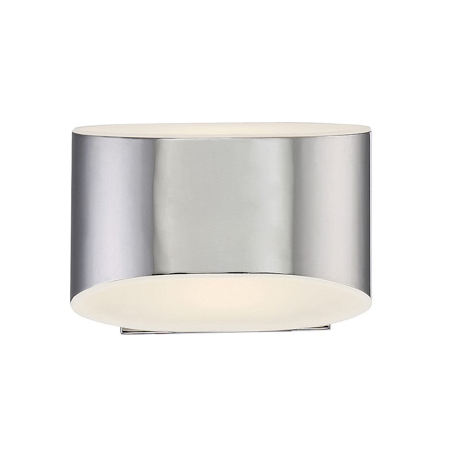 Eurofase Arch 1-Light LED Wall Sconce, Chrome/White - 30148-017