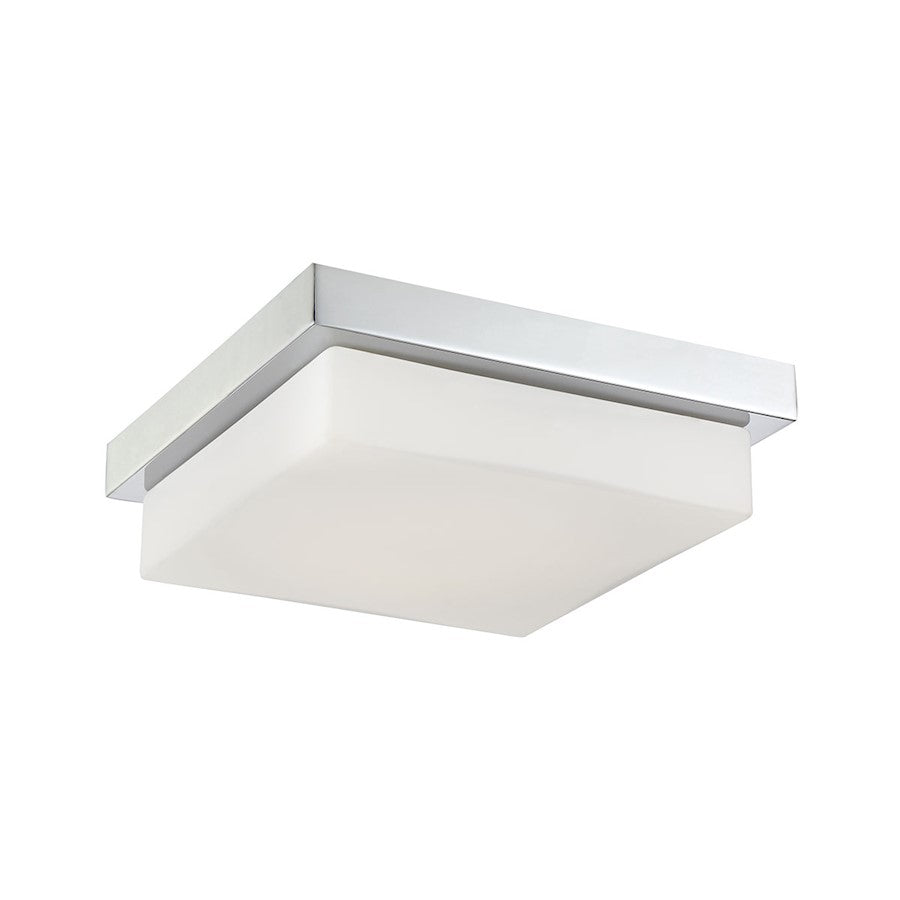 Eurofase Barlow 1-Light Small LED Flushmount, Chrome/White - 32672-015
