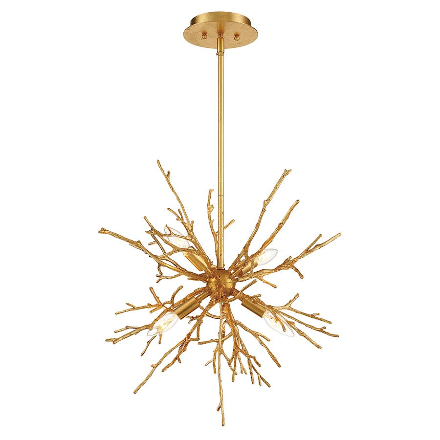 Eurofase Aberdeen 4-Light Chandelier, Gold Leaf - 35638-018