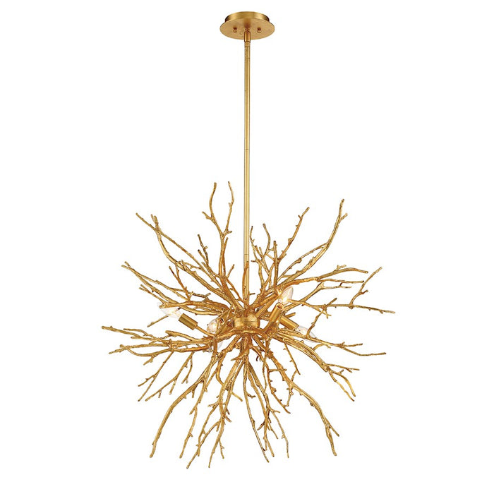 Eurofase Aberdeen 6-Light Chandelier, Gold Leaf - 35639-015