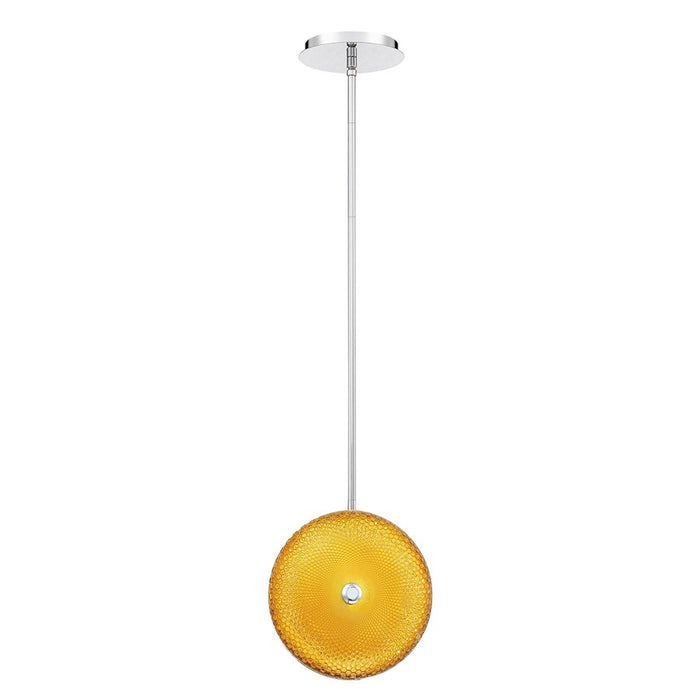 Eurofase Caledonia Small LED Pendant, Chrome/Yellow - 35913-047