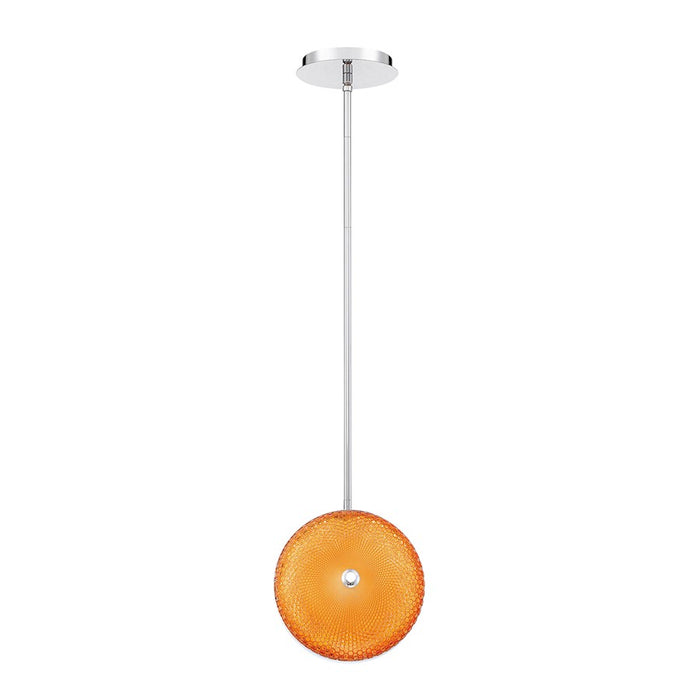 Eurofase Caledonia Small LED Pendant, Chrome/Orange - 35913-054