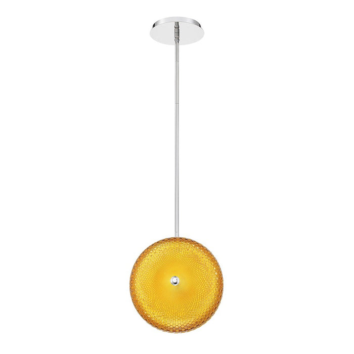 Eurofase Caledonia Large LED Pendant, Chrome/Yellow - 35914-044