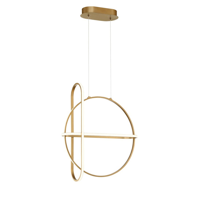 Eurofase Berkley LED Chandelier, Satin Gold/Clear - 37035-020