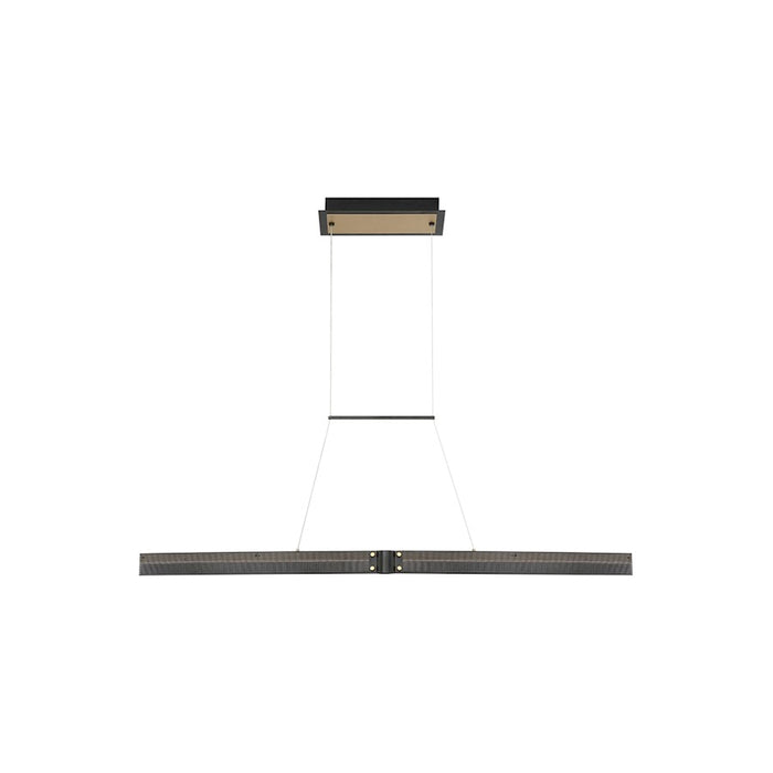 Eurofase Admiral Small Linear LED Chandelier, Black/Brass/Soft White - 37057-015