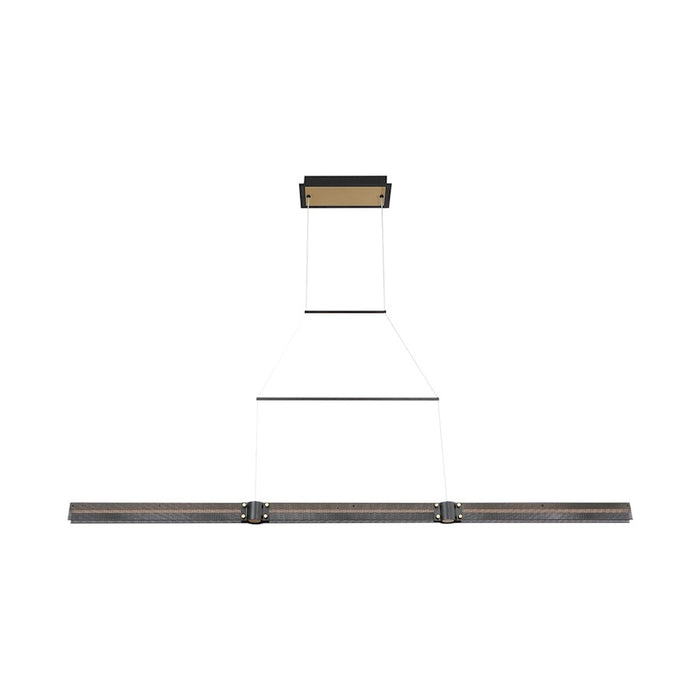 Eurofase Admiral Medium Linear LED Chandelier, Black/Brass/White - 37058-012