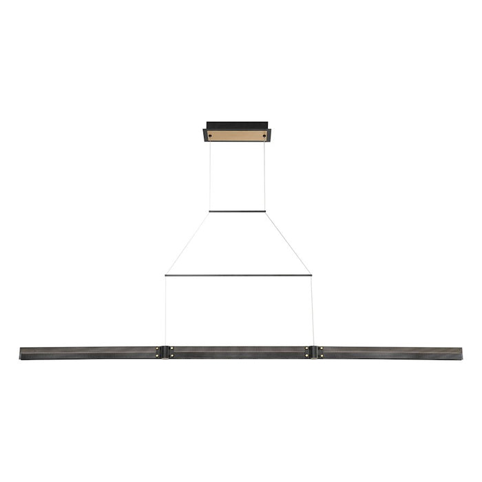Eurofase Admiral Large Linear LED Chandelier, Black/Brass/Soft White - 37059-019