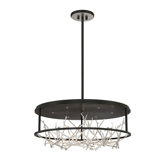 Eurofase 7LT Round LED Chandelier, BlackSilver - 38097-027