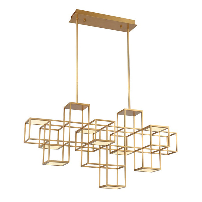 Eurofase 9 Light Linear LED Chandelier, Gold - 38258-015