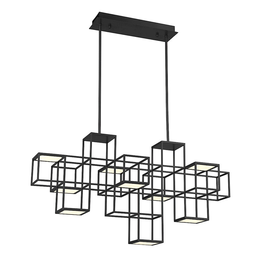 Eurofase 9 Light Linear LED Chandelier, Black - 38258-026
