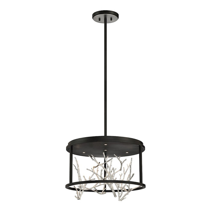 Eurofase 4LT Round LED Chandelier, BlackSilver - 38636-028